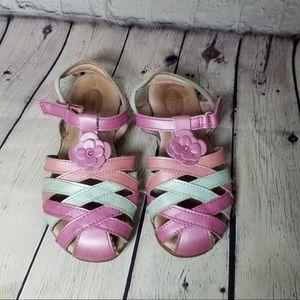 Little girl size 12.5 Stride Rite strappy sandals